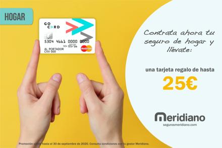 Contrata ahora tu seguro del hogar y llévate una tarjeta regalo de hasta 25€